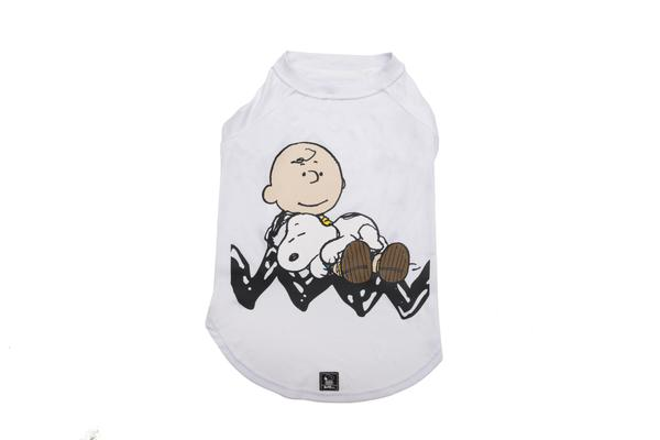 T-shirt Charlie Brown Sleep White Oficial Snoopy
