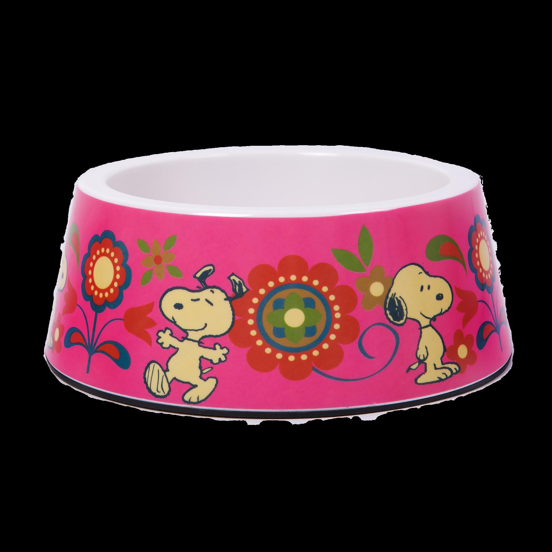 Taça em Melamina Pink Flower Oficial Snoopy