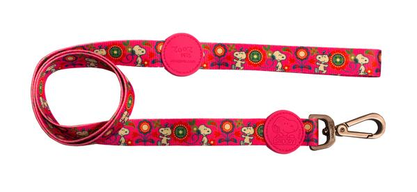 Trela Pink Flower Oficial Snoopy