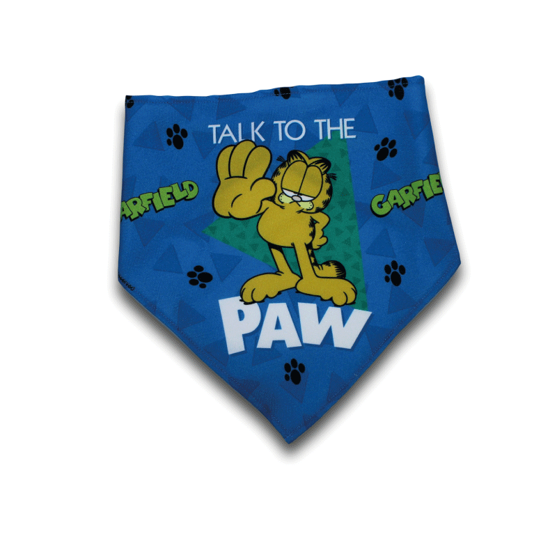 Lenço oficial Garfield Talk to the Paw Personalizável