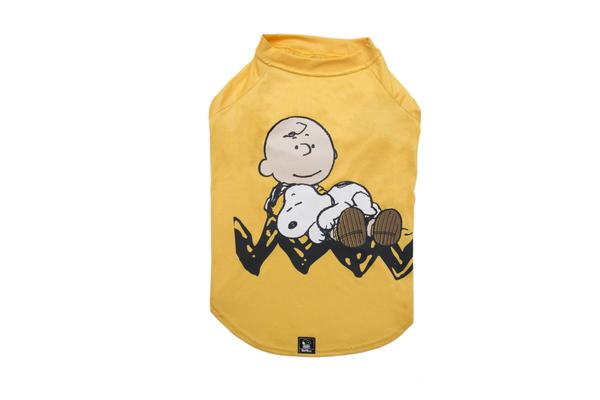 T-shirt Charlie Brown Sleep Yellow Oficial Snoopy