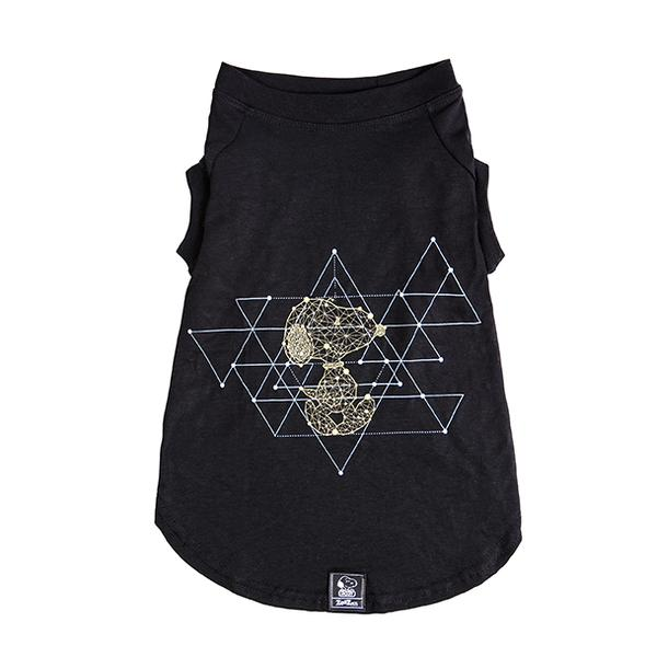 T-shirt Geometry Black Oficial Snoopy