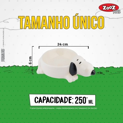 Taça em Cerâmica 3D Oficial Snoopy