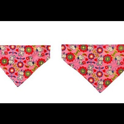 Bandana Pink Flower Oficial Snoopy