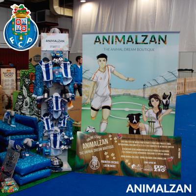 Animalzan lançou em parceria com o FC Porto na Expozoo uma linha de produtos para animais de estimação