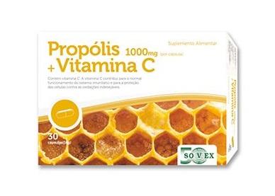 Capsulas de Própolis + Vitamina C 1000mg