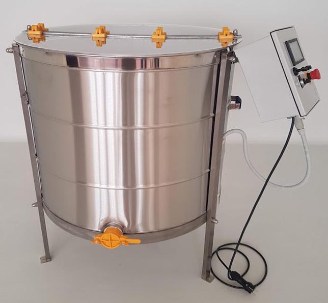 Extractor Inox Eléctrico Radial 42 quadros c/ Temporizador Digital tipo Industrial