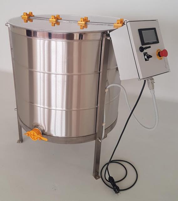 Extractor Inox Eléctrico Radial 32 quadros c/ Temporizador Digital tipo Industrial