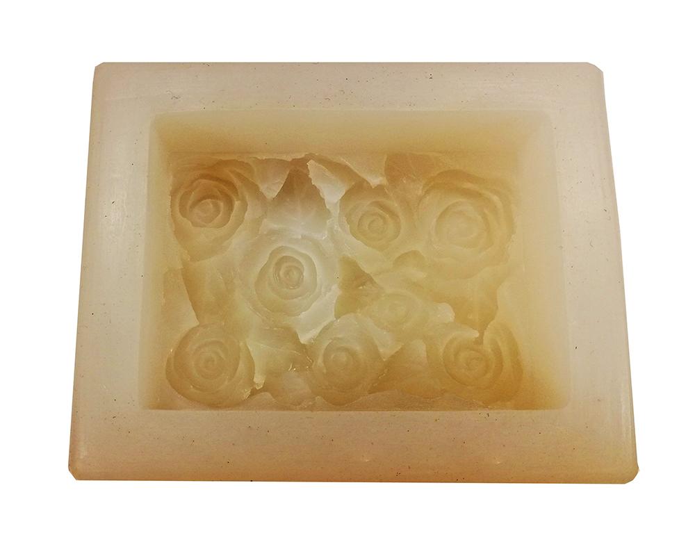 Molde Silicone modelo com Canteiro de Flores