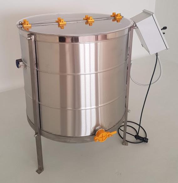 Extractor Inox Eléctrico Radial 28 quadros c/ Temporizador Digital tipo Industrial