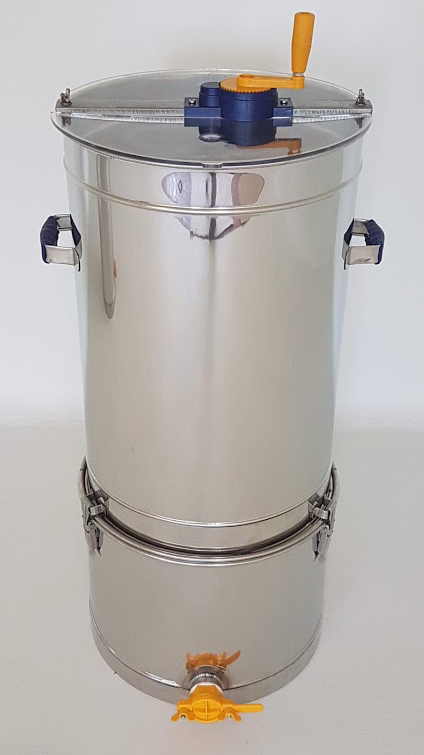 Extractor Inox Manual Tangencial 2/4 quadros Com Filtro e Bidão