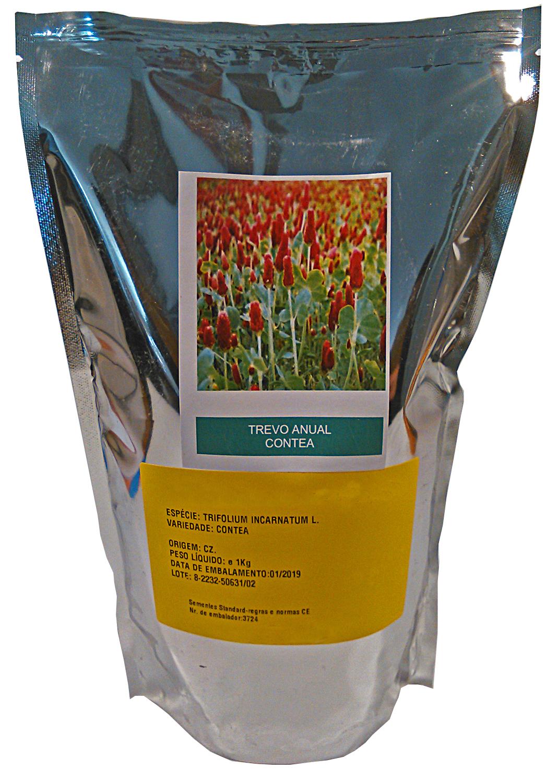 Trevo Anual Encarnado 1kg - Trifolium Incarnatum
