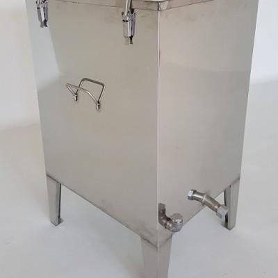 Caldeira Derreter Cera Inox 59x51 Eléctrica