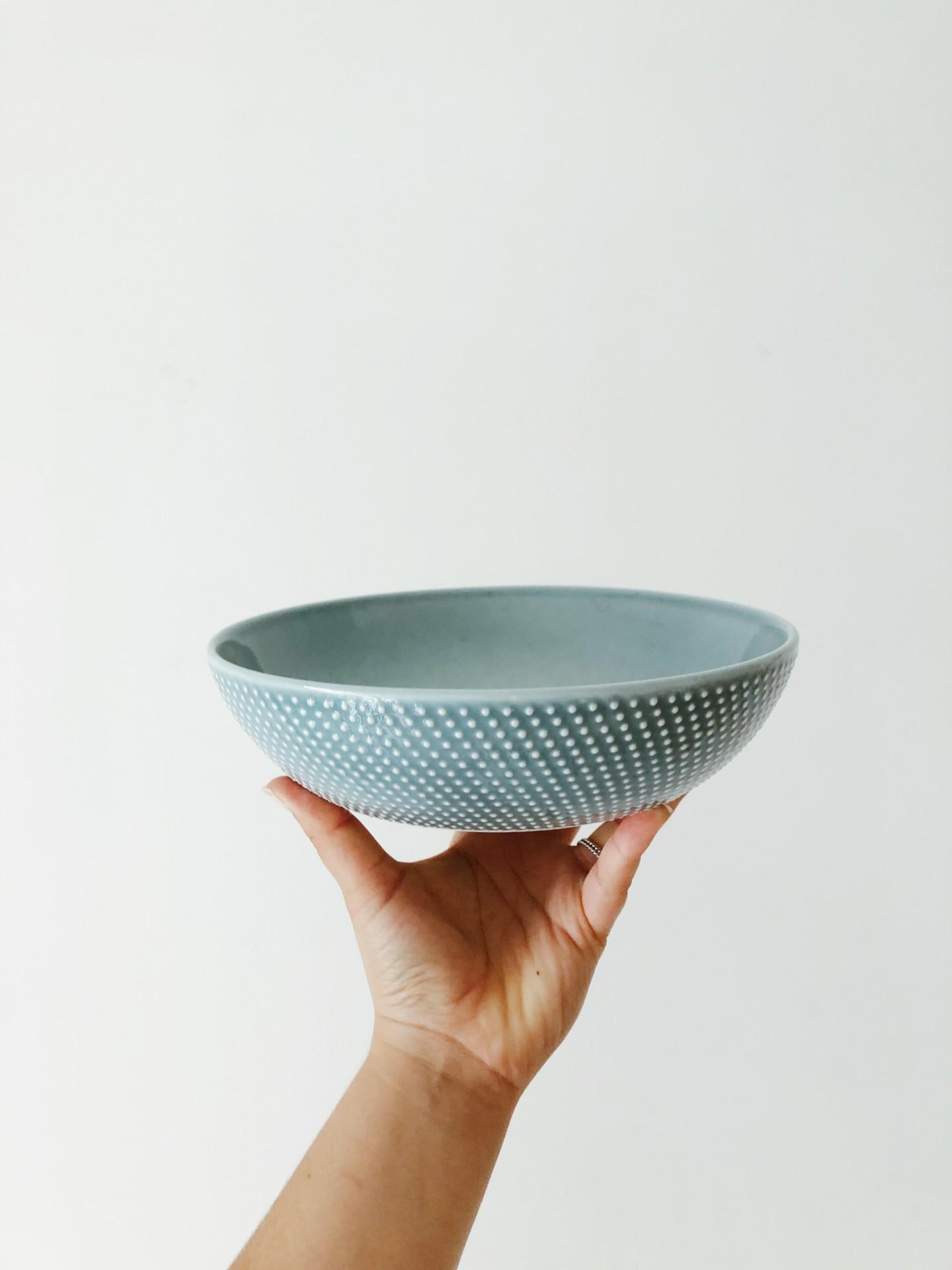 Prato de Sopa Azul c/ Relevo