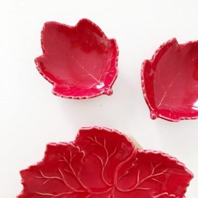 Prato Folha Vermelho