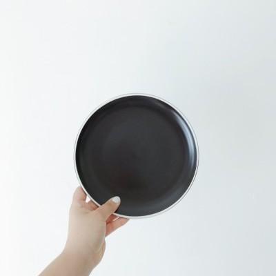 Prato de Sobremesa Preto Mate