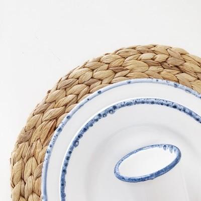 Conjunto Branco e Azul - 18 peças