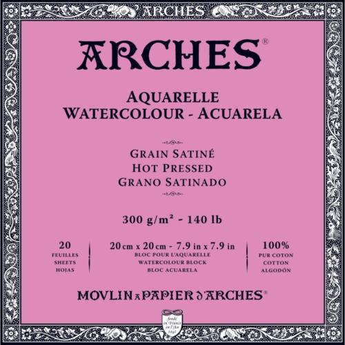 Arches - Papel de aguarela, Satinado