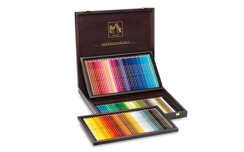 Lápis de cor Caran d'Ache Supracolor soft - caixa madeira