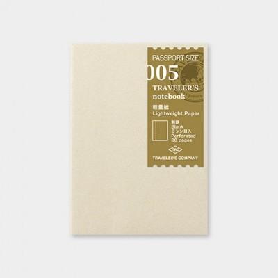Traveler's Notebook recarga passport size 005