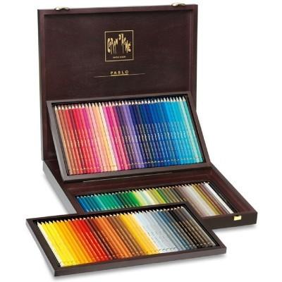Lápis de cor Pablo Caran d'Ache - caixa de madeira
