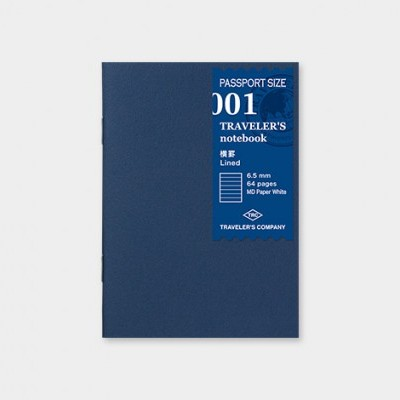 Traveler's Notebook recarga passport size 001