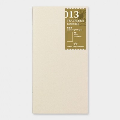 Traveler's Notebook  recarga regular size 013
