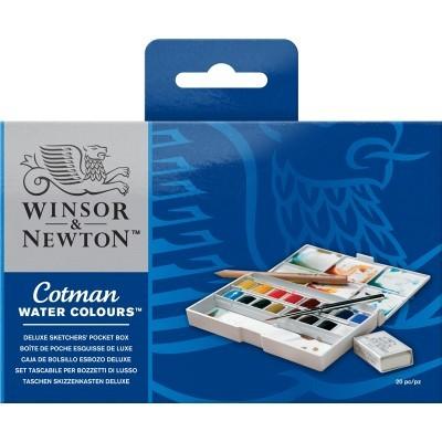 Caixa de Bolso Deluxe Aguarela Cotman Winsor & Newton