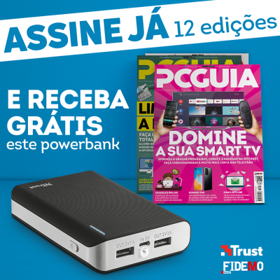 Assinatura Papel Revista PCGuia (12 Meses) + PowerBank