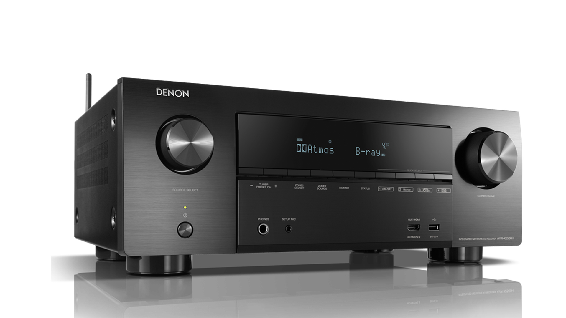 AVR-X2500H Receiver AV 7.2 com bluetooth e Heos integrado Denon
