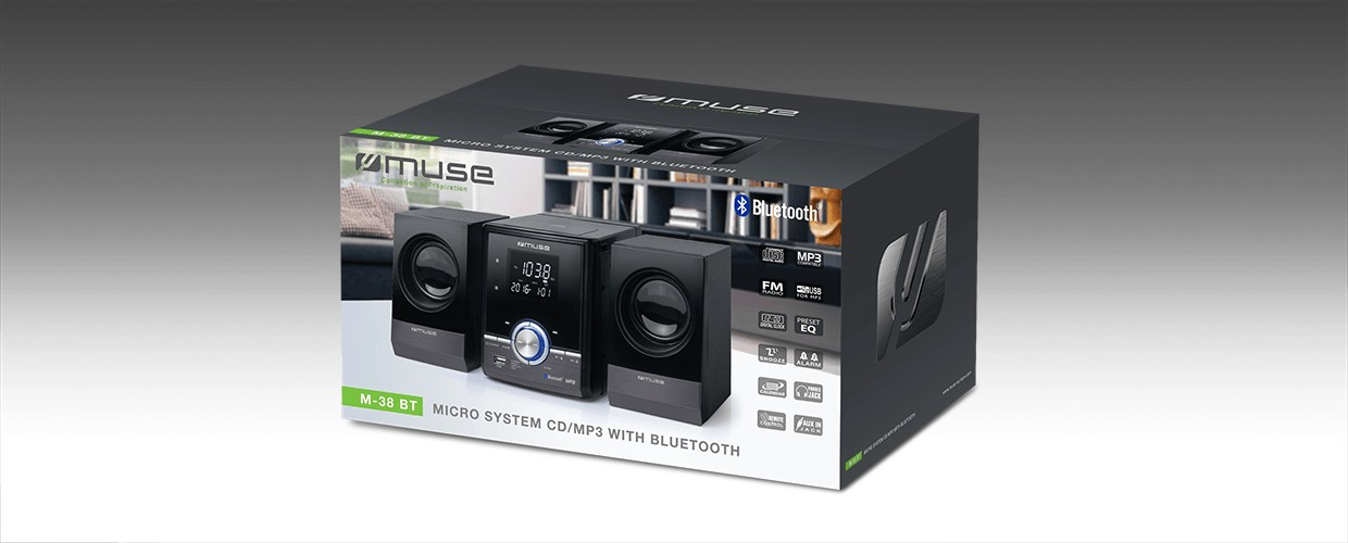 M-38 BT Micro Sistema C/ CD/MP3 e BT MUSE