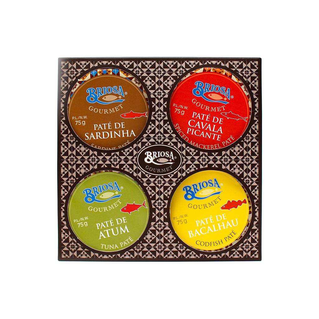 Briosa Gourmet - Classic Paté Box 4 x 75g