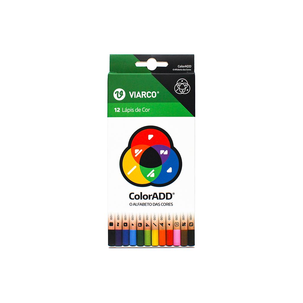 Viarco- 12 Lápis de Cor  (ColorAdd - inclusivo para daltónicos)