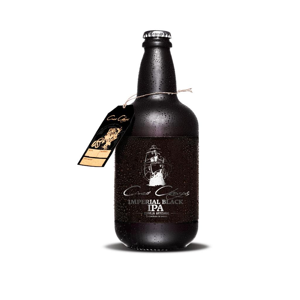 Cinco Chagas - Cerveja Artesanal Imperial Black Ipa