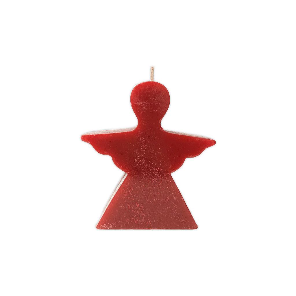 Manulena - Vela Decorativa Anjo Vermelha com Glitter