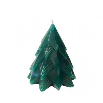 Manulena - Vela Decorativa Pinheiro Verde com Glitter