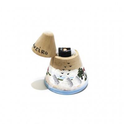 Artesanato - Saleiro madeira com flor de sal