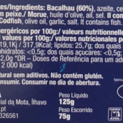 Liporfir - Bacalhau Assado em Azeite