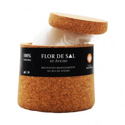 Artesanato - Saleiro de cortiça com Flor de Sal