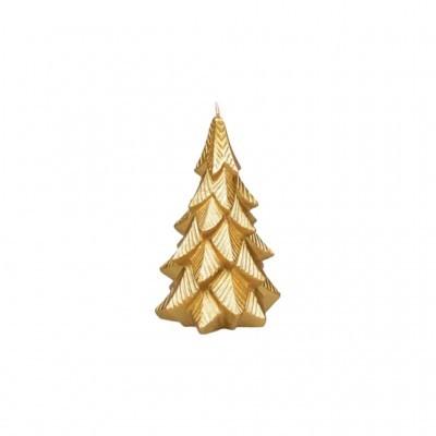 Manulena - Vela Decorativa Pinheiro Dourado com Glitter