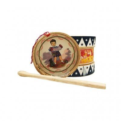 Artecri - Tambor de Madeira com baquetas de madeira