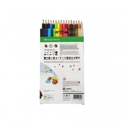 Viarco - 16 Lápis de Cor (ColorAdd - inclusivo para daltónicos)