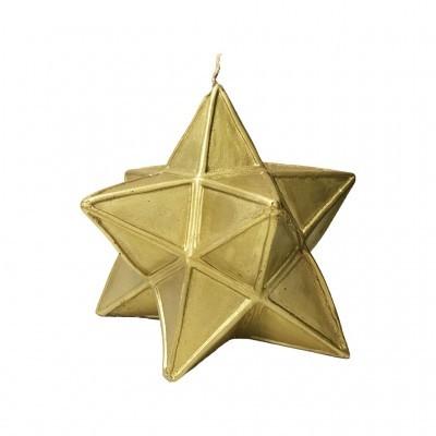 Manulena - Vela Decorativa Estrela Dourada com Glitter