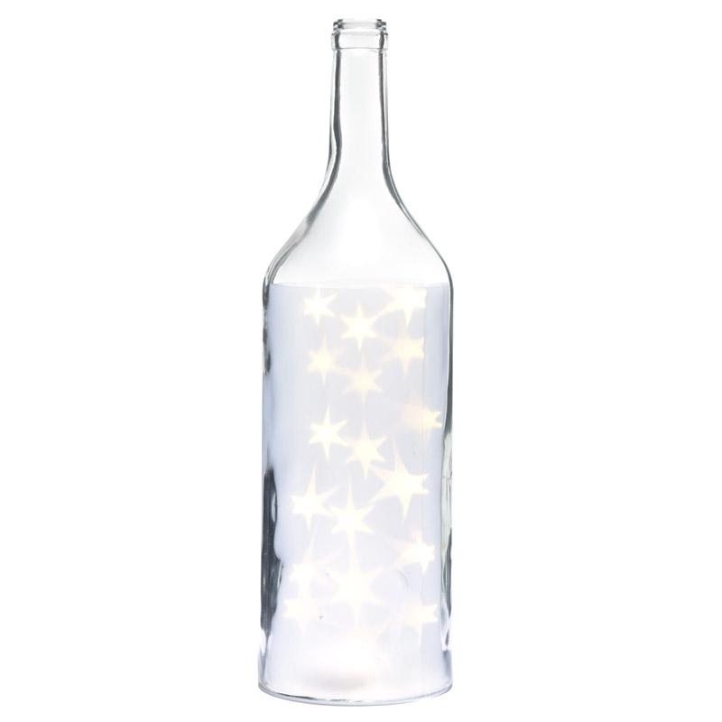 Jarro Decorativo grande com LED branco estrelas