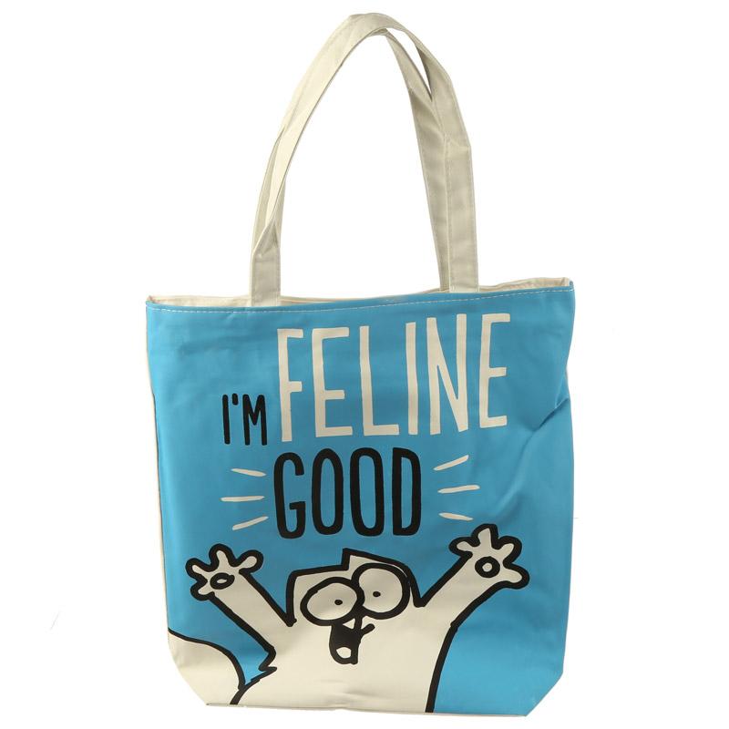 Bolsa com fecho e forro I'm Feline Good Simon's Cat