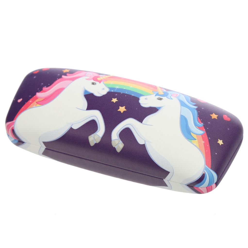 Caixa para óculos Princesa Encantada e Unicórnio Arco iris
