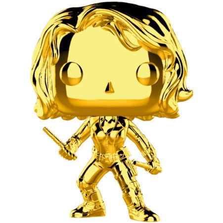 Figura POP Marvel Studios 10 preto Widow Gold Chrome