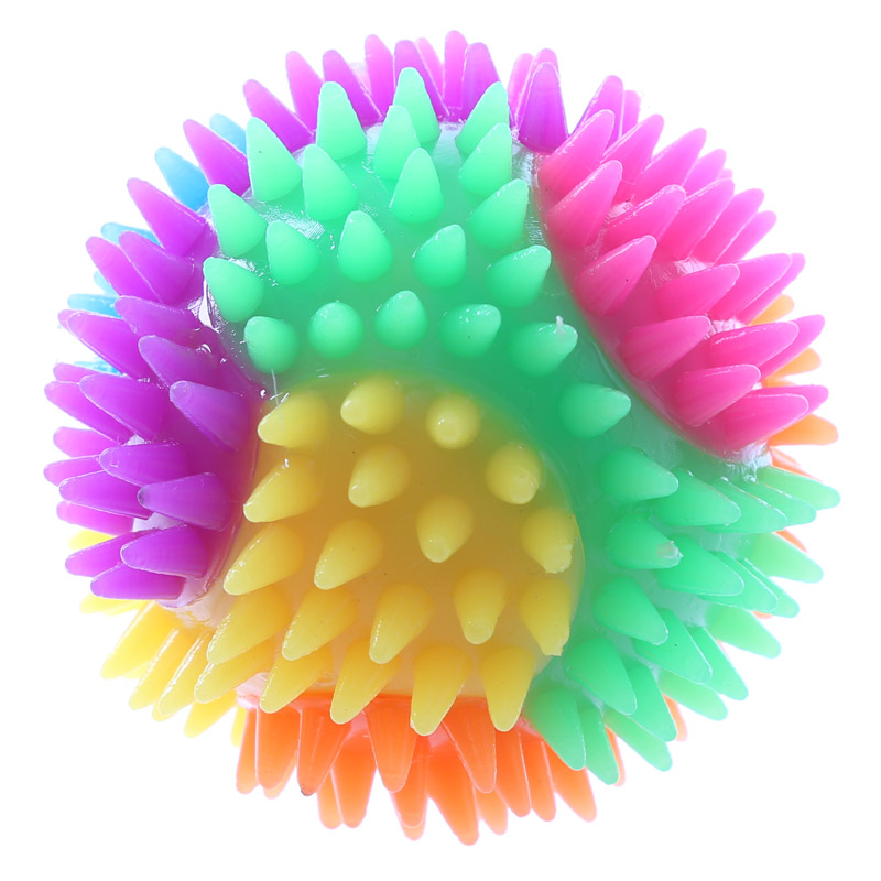 Bola saltitona Pontiaguda com Luz LED 7cm