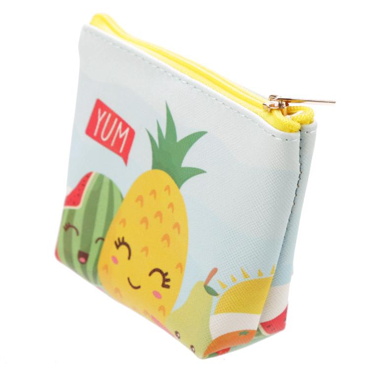 Porta-moedas PVC - frutas com caras