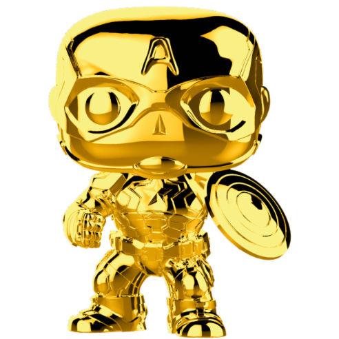 Figura POP Marvel Studios 10 Capitan America Gold Chrome
